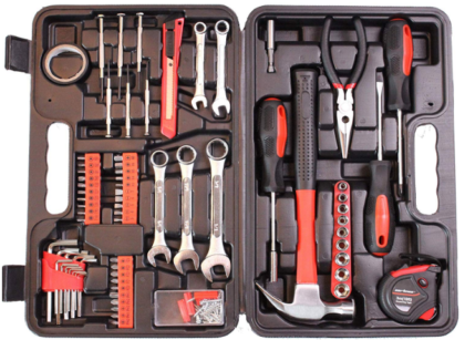 This is an image of boy's 148 piece tool set