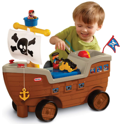 This is an image of boy's pirate ship in beatiful colors