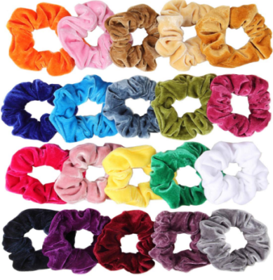 This is an image of girl's 20 pack hair ties in different colors