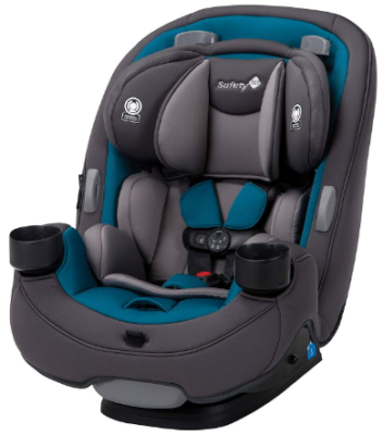 This is an image of infant's 3 in 1 convertible car seat in blue coral and black colors