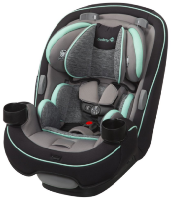 This is an image of infant's 3 in 1 convertible car seat in black, Blue and gray colors