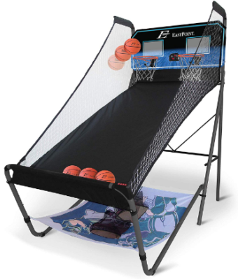This is an image of boy's 3 in 1 basketball shoot game set