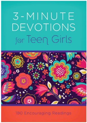This is an image of girl's book 3 minute devotions for teen girls