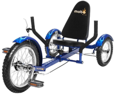 This is an image of boy's 3 wheels bike in blue color