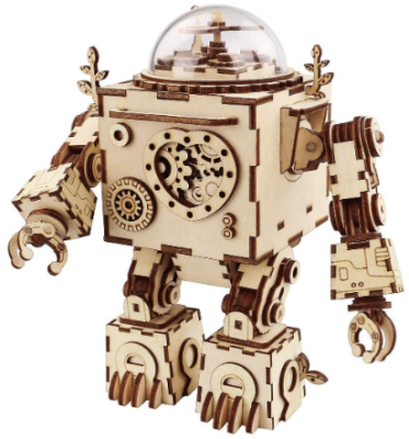 This is an image of boy's Orpheus music box puzzle robot