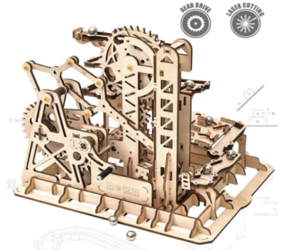 This is an image of girl's 3D wooden puzzle with mechanical gears
