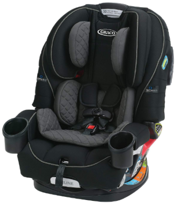 This is an image of infant's 4 in 1 car seat in black and gray colors
