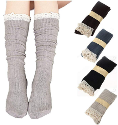 This is an image of girl's 4 pack knot boot socks