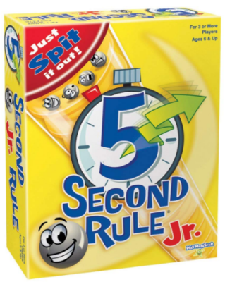 This is an image of kid's 5 second rule junior board game