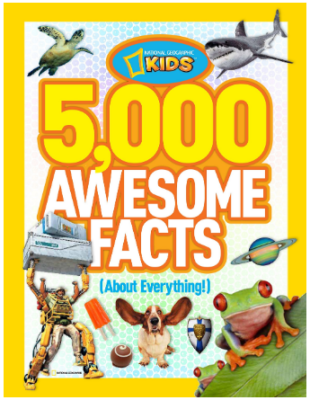 This is an image of boy's 5000 awesome facts book