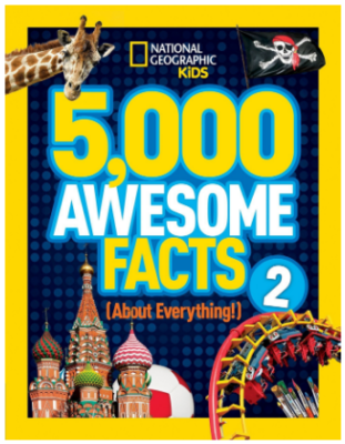 This is an image of boy's 5000 awesome facts book by National Geographic Kid
