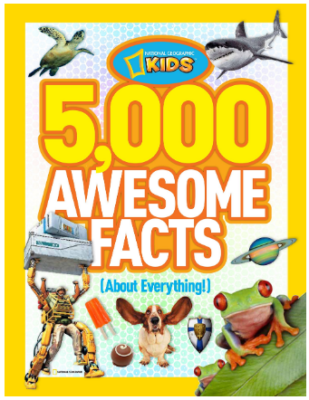 This is an image of girl's 5000 awesome facts book
