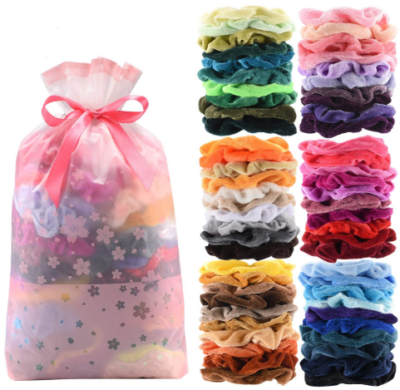 This is an image of girl's 60 piaces hair bands pack in different colors