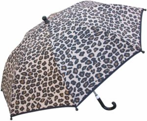 This is an image of an animal print umbrella for kids by RainStoppers.