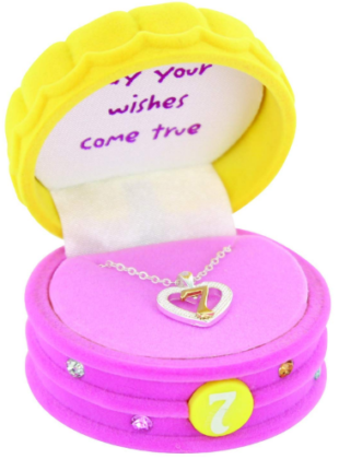 This is an image of girl's 7th birthday neckless in silver color