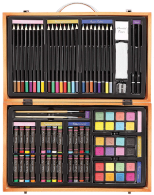 This is an image of girl's deluxe art 80 piece set