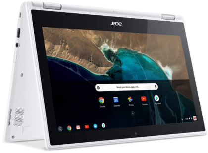 This is an image of girl's acer chromebook in white color
