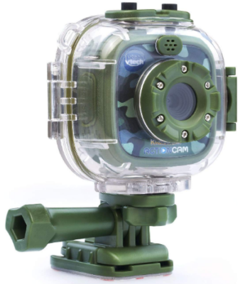 This is an image of boy's digital action camera video in green color