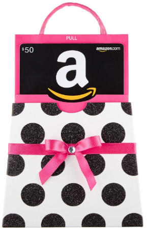 This is an image of girl's Amazon gift card in pink color