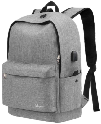 This is an image of boy's Anti theft backpack in gray color