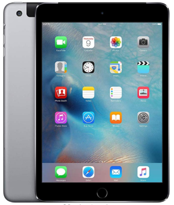 This is an image of boy's Apple ipad mini 4 in gray color