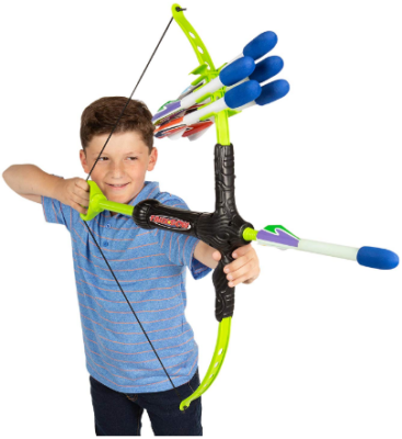 This is an image of boy's arrow archery set in colorful colors