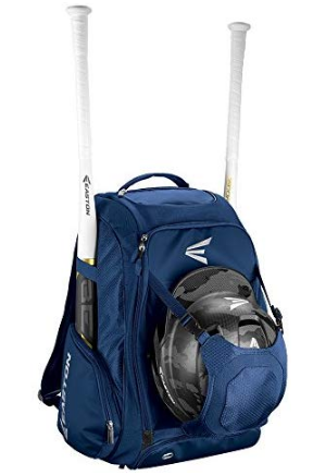 This is an image of boy's backpack baseball softball in blue color