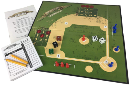 This is an image of kid's baseball board game