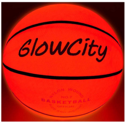 This is an image of boy's Basketball bright LED in red color