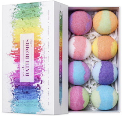 This is an image of girl's bath bombs gift set in colorful colors