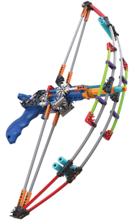This is an image of kid's battle bow build and blast set in colorful colors