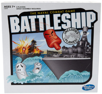This is an image of kid's battleship with planes board game