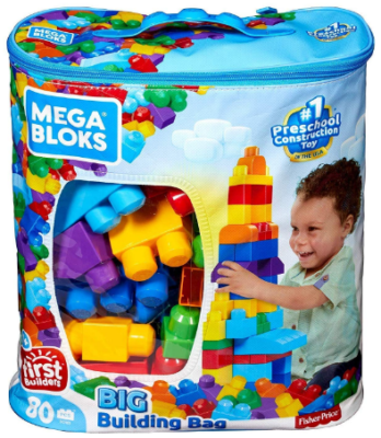 This is an image of boy's building bag set in colorful colors