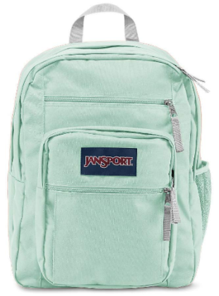 This is an image of girl's big student backpack by Jansport in broken green color