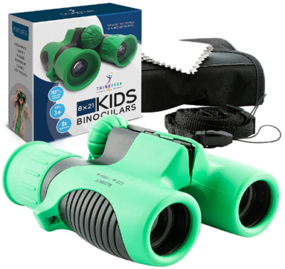 This is an image of kid's binoculars in green color