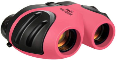 This is an image of girl's binoculars proof in pink color