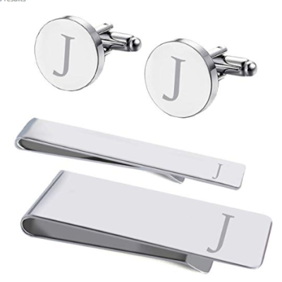 This is an image of a 4 piece cufflink set for men by BodyJ4You.