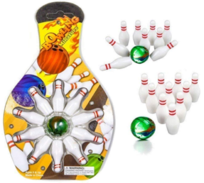 This is an image of girl's bowling game set