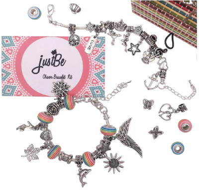 This is an image of girl's charm Bracelet kit