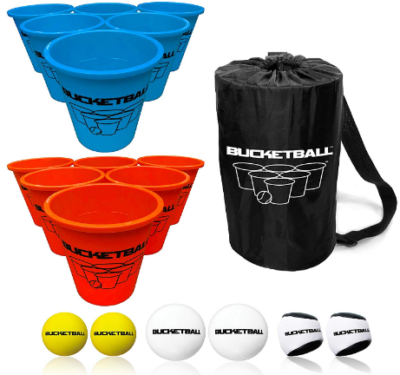 This is an image of boy's bucket ball gale in colorful colors