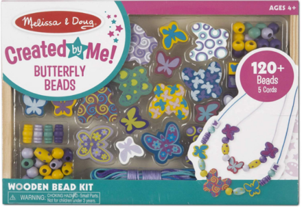 This is an image of girl's buttlerfly friends bead set
