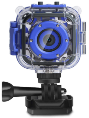 This is an image of boy's Action digital camera video in waterproof and blue color