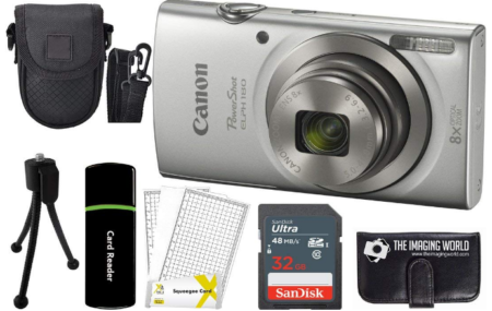 This is an image of boy's canon digital camera pack in silver color