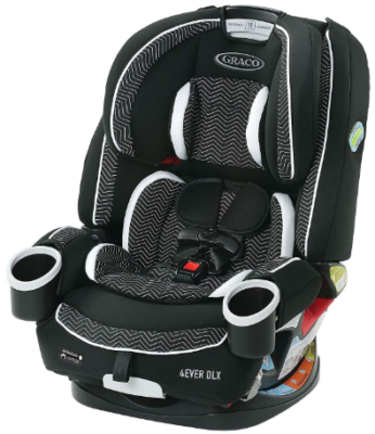 This is an image of infant's car seat in black and white color