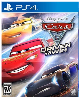 This is an image of kid's Cars 3 game for playstation 4