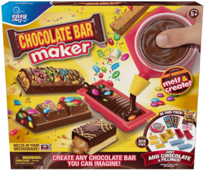 This is an image of girl's chocolate bar maker kit
