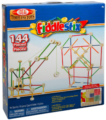 This is an image of kid's classic wood connector building set in colorful colors