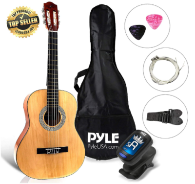 This is an image of boy's Classical acoustic guitar pack