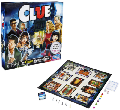 This is an image of kid's clue board game