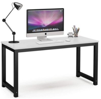 This is an image of boy's Computer desk in gray and black colors